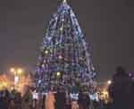 Opened Christmas town on the Cathedral Square of Chernivtsi