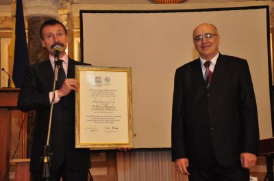 CNU certificate awarded UNESCO
