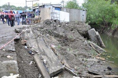 Восстановление укреплений после сдвига на Калинке обойдется в 150 тыс. грн.
