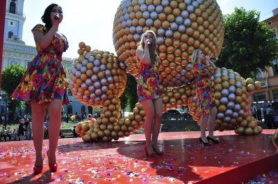 В Черновцах установили рекордное фигуру с 1600 мячей