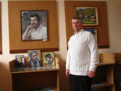 В Черновцах на выставке живописи - портрет Миколайчука