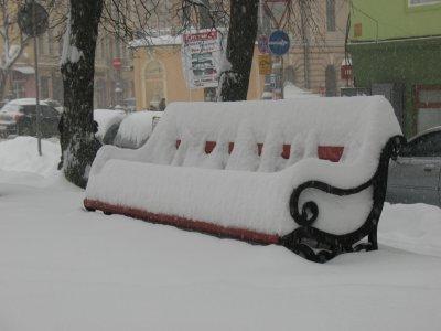 Снегопад в Черновцах