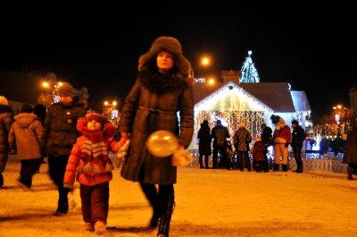 В Черновцах открыли рождественский городок от Фирташа