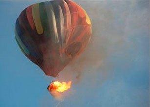 Падения воздушного шара в Египте (видео)