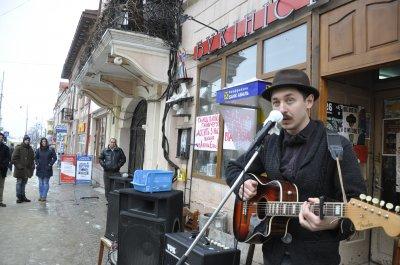Черновицкие музыканты отпели коммунальные магазине
