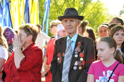Черновцы отмечают 68 годовщину Победы