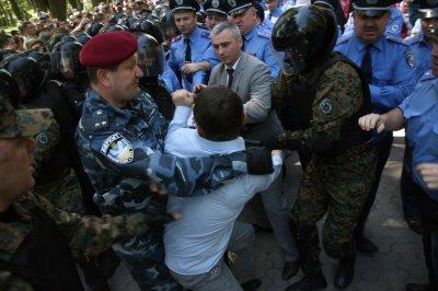 Потасовка в Тернополе на 9 мая (видео)