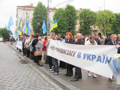 В Черновцах ПР боролась с фашизмом