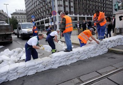 В Будапеште из-за наводнения ввели состояние чрезвычайной ситуации (видео)