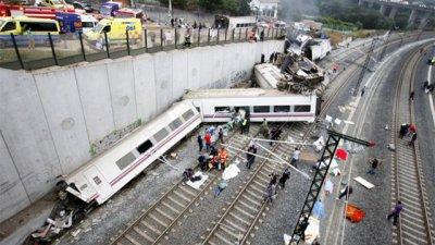 В Испании произошла крупнейшая железнодорожная катастрофа за последние 40 лет (видео)