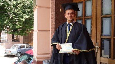 """With diploma - at """"Kalynku"""""""