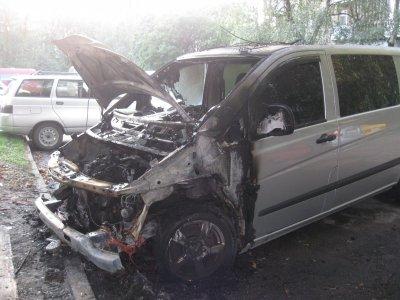 В Черновцах неизвестные сожгли автомобиль общественного активиста ( ФОТО )