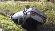Bukovina overturned car - one passenger died