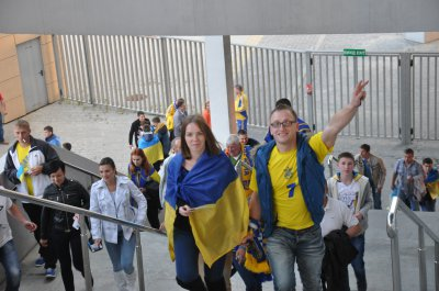 As in Lviv rooting for team Ukraine ( PHOTO)