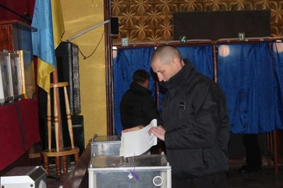 In Chernivtsi jail completed ballot (PHOTOS)