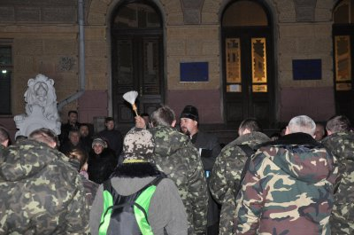 Chernivtsi held a prayer Bukovynian volunteers to the east ( PHOTOS)