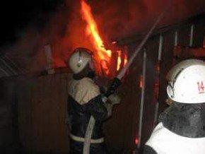 In Bukovina burned a house
