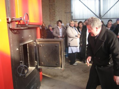 In Bukovina earned another wood burning boiler