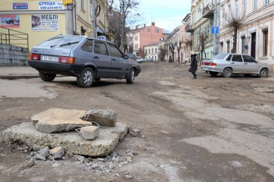 Scandalous street Khmelnitsky Chernivtsi block until tender announced
