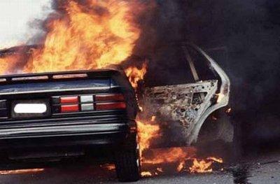 В Черновцах на улице Героев Майдана горел автомобиль
