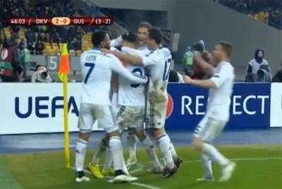 """""""Динамо"""" здолало """"Генгам"""" та вишло у 1/8 фіналу Ліги Європи"""