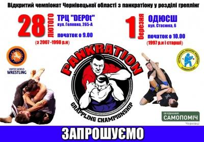 У Чернівцях відбудеться відкритий чемпіонат області з панкратіону