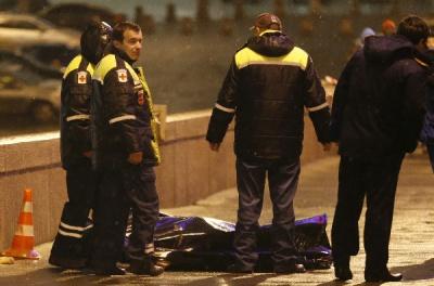 Одна з камер спостереження зафіксувала момент вбивства Нємцова