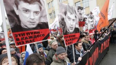 У Москві триває марш пам'яті вбитого Нємцова