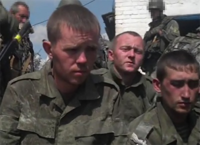 СБУ оприлюднила відео із полоненими під Іловайськом російськими строковиками