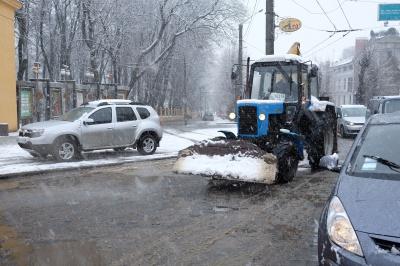 Весняний сніг у Чернівцях (ФОТО)