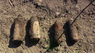 Буковинець у своєму городі знайшов чотири снаряда часів Першої світової війни