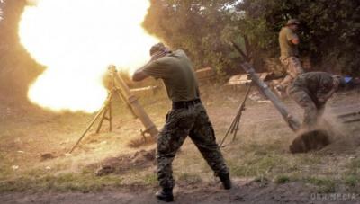 """Бойовики продовжують обстрілювати сили АТО з """"відведеної"""" артилерії"""