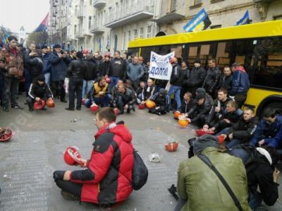 Аваков утверждает, что половина протестующих под Минэнерго не является шахтерами