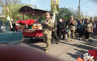 На Буковині прощаються з військовим, який помер у госпіталі (ФОТО)