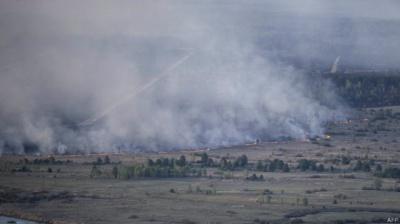 У ДСНС кажуть, що пожежу біля ЧАЕС ліквідовано