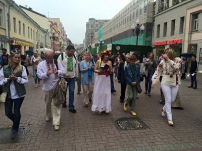 У Москві провели флеш-моб у вишиванках