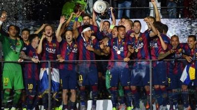 """""""Барселона"""" перемогла у Лізі чемпіонів та зробила """"золотий хет-трик"""""""