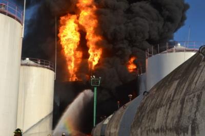 Турчинов: Пожежа на нафтобазі під Києвом забрала життя п'яти людей