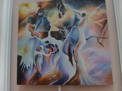 У Чернівцях відкрили виставку художника-абстракціоніста Ласло Чока (ФОТО)
