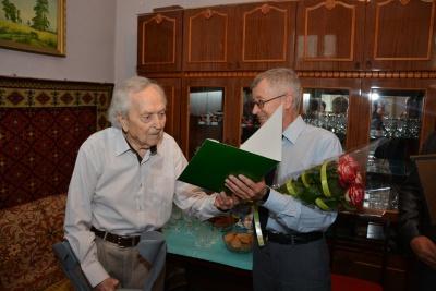 Ветеран війни із Чернівців відзначив 100-літній ювілей