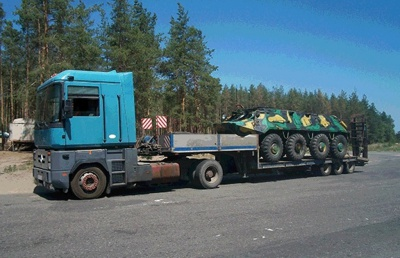 Із зони АТО намагалися незаконно вивезти БТР на Буковину (ФОТО)