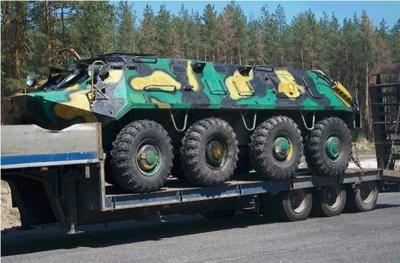 БТР , который задержали в Луганской области, отпустили в Коломыю на ремонт
