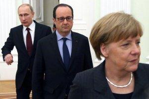 Меркель, Олланд и Путин призвали к прекращению огня на Донбассе с 1 сентября