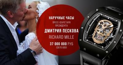 Спікер Путіна похизувався годинником вартістю понад півмільйона доларів