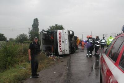 У Румунії знову перекинувся туристичний автобус - є жертви