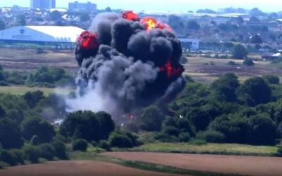 З'явилося відео аварії літака на авіашоу у Британії, в результаті якої загинуло семеро людей