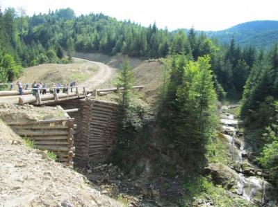 В Берегометі збудували один з найвищих в Європі дерев'яних мостів