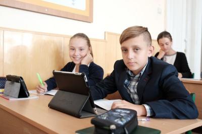 Замість підручників у школах на Буковині користуються планшетами (ФОТО)
