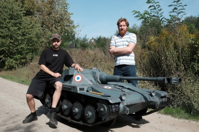 Троє чернівчан створили танк на базі велосипеда (ФОТО)