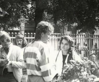 Марія Бурмака поділилась унікальним фото з Чернівців 1989 року